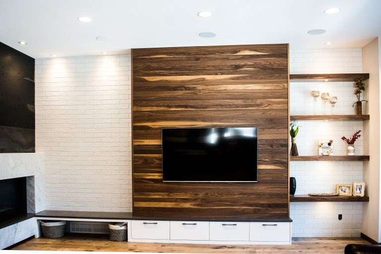 Walnut Feature Wall