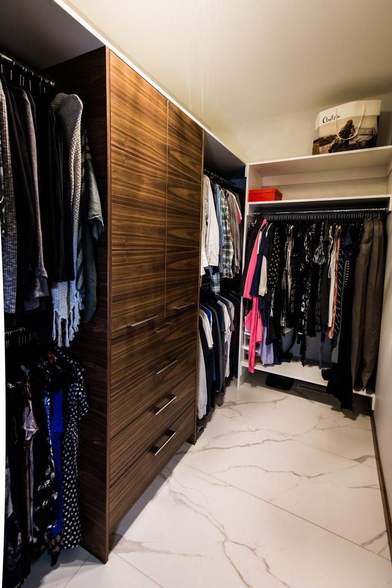 Custom Walnut Closet